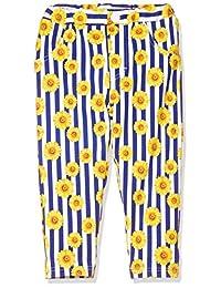TAKIHIYO 伸缩 幼儿园裤 条纹向日葵图案 7分长 女童 乐育