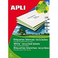 APLI 12060 永久标签,回收,70.0 x 35.0 毫米,100张