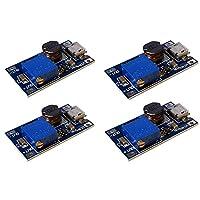 MT3608 Micro USB 直流电压调节器,加速转换器,电源模块,2V-24V 至 5V-28V 2A(4 件装)4350283402 With USB