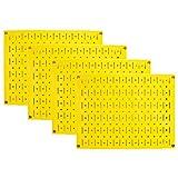 Pegboard Wall Organizer 瓷砖 - 墙壁控制模块化金属钉板瓷砖套装 - 四个 12 英寸高 x 16 英寸宽的木栓板板墙纸存储瓷砖 - 易于安装 黄色 PEG-BOARD-1264 Y