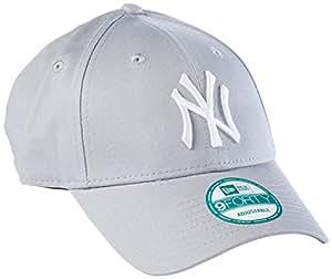 New Era 男式 MLB Basic 纽约洋基 9Forty 可调节 棒球帽 Grey 均码
