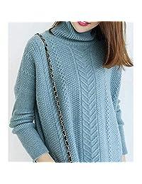 重磅加厚温暖羊绒衫麻花高领套头纯色针织绞花宽松毛衣女四股织