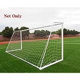 Soccer Goal Net 橄榄球聚乙烯训练后网 全尺寸(仅网) 12 x 6FT 白色