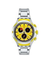 瑞士品牌 Swatch 斯沃琪 金属X轻系列石英男士手表 沁爽柠檬 YYS4002AG