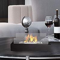 Northwest Bio Ethanol Ventless Fireplace - 桌面 矩形 火焰 无烟煤 清洁燃烧 室内 室外便携 热度 360 度 现代装饰