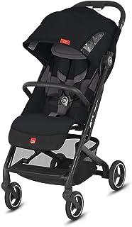 gb Gold Qbit+ All-City 紧凑型婴儿椅,平躺躺躺椅,从出生到17公斤(约) 4 岁),银色阳极氧化框架,时尚收藏版,天鹅绒黑色