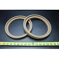 2 个 MDF 扬声器环形垫片 8 BZ 边框 英寸木制 3/4 厚玻璃纤维盒 RING-8BZ