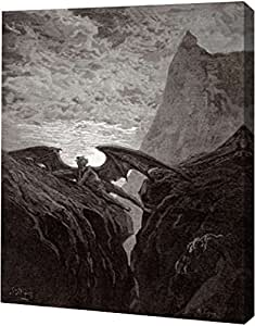 "PrintArt ""Satan Resting On The Mountain - 出自Miltons Paradise Lost""Gustave Dore 画廊装裱艺术微喷油画艺术印刷品,40.64 cm x 50.80 cm"