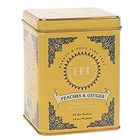 Harney & Sons 桃子和生姜 茶包, 每罐20包 (4罐装)