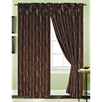 RT Designers Collection Harlow Window Curtain Panel, 54 by 84-Inch, Chocolate