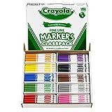 Crayola Classpack 细线笔 - 不可水洗马克笔,细笔尖,10 种颜色,200/BX,AST 1包 棕色