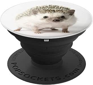 White Baby 刺猬可爱森林动物 – PopSockets 手机和平板电脑抓握支架260027  黑色