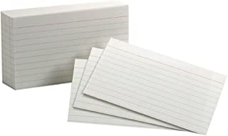 """Oxford Ruled Index Cards, 3"""" x 5"""", White, 100 Per Pack (40136)"""
