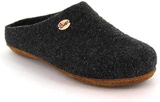 WoolFit 经典中性毛毡拖鞋 适合窄脚 - *手工羊毛木底鞋带足弓支撑和可拆卸鞋垫