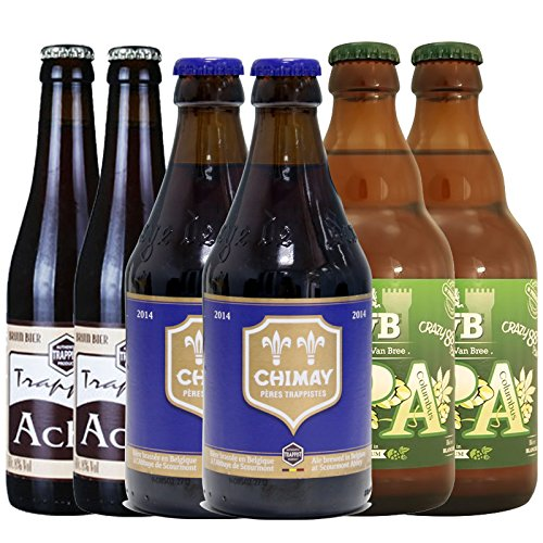 智美 精酿啤酒组合6瓶装(2瓶蓝帽+2瓶布雷IPA+2瓶阿诗黑) 79元