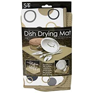 Schroeder & Tremayne 430700 Dish Drying Mat, Circles, 16 x 18-In.