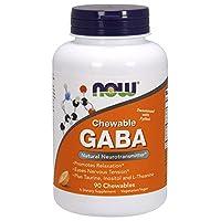 NOW GABA 橙色口味,90?chewables