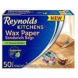 Reynolds Kitchens 三明治和零食蜡纸袋(50 个装) 50 片 50份 50