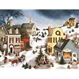 "LANG -""乡村里的卡罗林"",盒装圣诞卡片,Linda Nelson Stocks的艺术品""- 18 张卡片,19 个信封 - 14.60 cm x 17.62 cm"