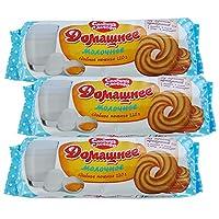 5袋 甜蜜农庄 俄罗斯进口 饼干 220g/袋 休闲零食 (家装饼干)