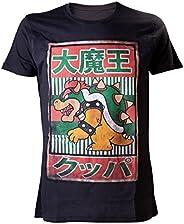 Nintendo T 恤 Bowser Kanji 黑色 印刷 XL 黑色 XL