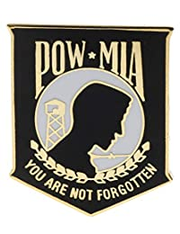 POW/MIA(黑色)You Are Not Forgotten 帽子或翻领别针 HON14719