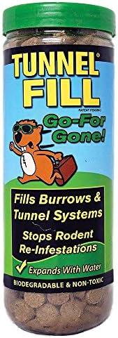 Wonder Soil 扩张隧道填充物 - 填满了鼠尾草、莫尔、松鼠、地猪、木棍、Voles、臭鼬、徽章、兔子的隧道,管状填充50条线脚 - *,家庭和宠物*