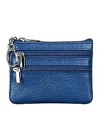 女士真皮零钱包迷你袋换式钱包带钥匙圈