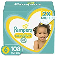 Pampers 帮宝适 尿布 新品一个月供应 Size 6 (108 Count)