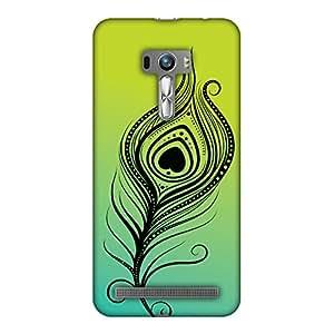 AMZER 手工制作设计师薄扣硬质手机壳带屏幕保护套件适用于华硕 Zenfone Selfie ZD551KL,高清彩色,超轻背壳AMZ601040187112 Almighty Krishna 2