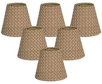 "(6 Pack) Royal Designs 6"" Hardback Empire Green/Gold Chandelier Lamp Shade, 3 x 6 x 5.5 (CS-947-6GG-6)"