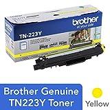Brother Genuine TN223Y 标准产量黄色碳粉盒,TN223