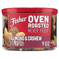 Fisher Snack 烘烤非油炸 混合杏仁和腰果, 含海盐, 9盎司(255g)