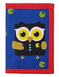 RFID 屏蔽钱包儿童/修身卡通钱包带拉链口袋/三折帆布户外运动钱包