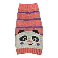 狗狗针织毛衣粉色美洲驼独角兽角宠物服装 粉红色 中