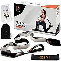 ZIN 瑜伽带用于拉伸,带环物理*。 弹力束带可拉伸腰。 带阻力带拉伸运动带。 腿部拉伸带可灵活