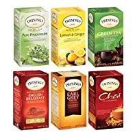 Twinings of London Variety Pack Tea Bags, 25 Count (Pack of 6)