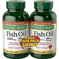 Nature's Bounty 自然之寶 1200毫克魚油軟膠囊,兩瓶,每瓶180粒(共360粒)液體釋放快