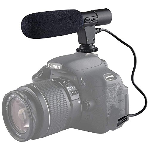YUOCUプロフェッショナルMic-01 3.5キヤノンニコンペンタックスオリンパスバスーンデジタル一眼レフカメラと互換性のあるマイクマイクと互換性のあるMmデジタルビデオDVカメラスタジオステレオショットガンレコーディング