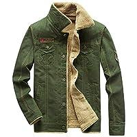 本露 夹克男士 加绒加厚秋冬保暖抗寒外套 纯棉软帆布耐磨工装夹克
