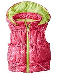 Pink Platinum Little Girls' Puffer Vest In Foil Dot