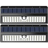 Lemontec 太阳能灯,62 个 LED 墙壁太阳能灯户外*照明夜灯带运动传感器检测器,用于花园后门阶楼梯栅栏台球道,2件装