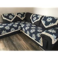 "OctoRose 新款改进防滑沙发和沙发保护套,组合式沙发套,可拆卸和可调节沙发垫下带 Navy-petal 35x82"" SSC-Chi-Nvy-Pel-35x82"