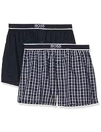 BOSS 男式平角短裤外露腰带睡衣套装(2 件装)