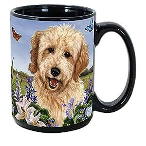 Butterfly Garden 15 oz Coffee Mug Bundle with Non-Negotiable K-Nine Kash by Imprints Plus Goldendoodle