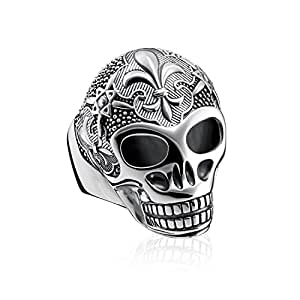 THOMAS Sabo 中性款戒指百合骷髅头925标准纯银偏黑 tr2155–637–21  黑色 64