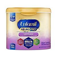 Enfamil 美赞臣铂睿 NeuroPro Gentlease 温和婴儿配方奶粉,20盎司(约567g)(1件装)含MFGM、Omega 3 DHA、铁
