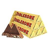 TOBLERONE 瑞士三角 牛奶巧克力含蜂蜜及巴旦木糖100g*6(瑞士进口)