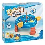 III 8817 钓鱼游戏,带水桌和许多配件,3岁以上约 41 x 38.5 x 38.5厘米,24件,多彩