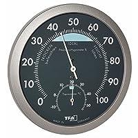 TFA Dostmann 恒温湿度计 煤黑色/灰色,120 x 37 x 120 厘米,45.2043.51